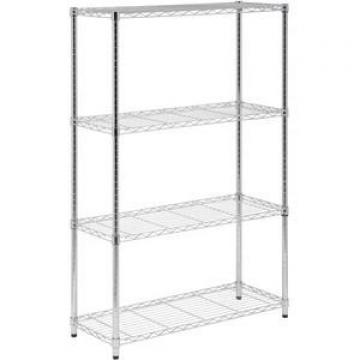 Iron 3 Tier Wire Shelf Corner storage Shelf Bakers Rack Indoor Plant Rack