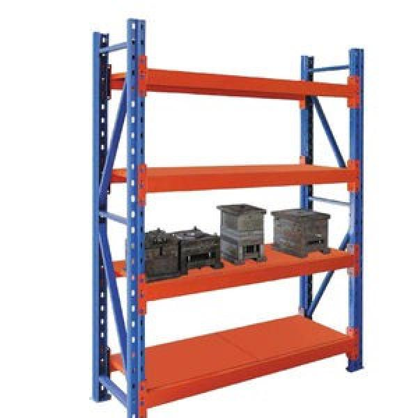 heavy duty racking with shelving to display and storage in same area